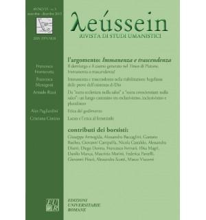 Immanenza e trascendenza - Leússein anno VI n. 3/2013