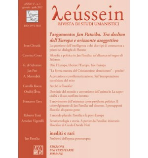 Jan Patočka. Tra declino dell'Europa e orizzonte asoggettivo - Leússein anno V n. 1/2012