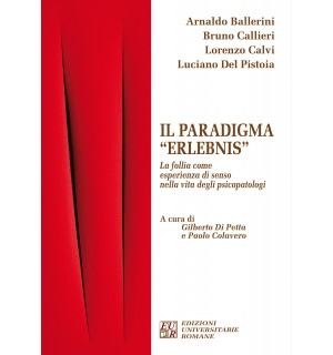 """Copertina del libro """"Il paradigma 'Erlebnis'"""" di Arnaldo Ballerini, Bruno Callieri, Lorenzo Calvi, Luciano Del Pistoia."""