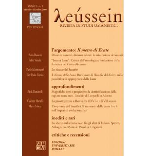 Il metro di Ecate - Leússein anno II n. 3/2009