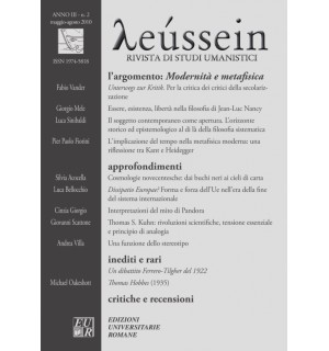 Modernità e metafisica - Leússein anno III n. 2/2010