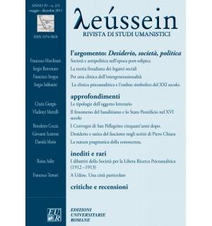 Desiderio, società, politica - Leússein anno IV n. 2-3/2011