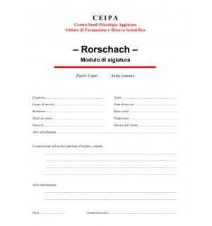 Modulo di siglatura - Rorschach